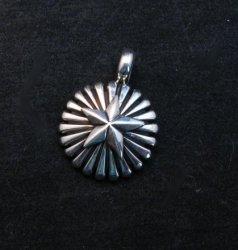 Navajo Sterling Silver Star Blast Pendant, Derrick Gordon