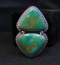 Massive Navajo Pilot Mountain Turquoise Silver Ring, Randy Boyd sz7-1/2