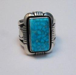 Navajo Kingman Birdseye Turquoise Ring sz11-1/2, Cooper Willie