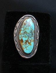 Navajo Native American Turquoise Ring sz9, LaRose Ganadonegro