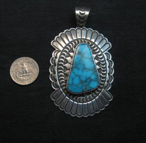 Image 1 of Huge Delbert Delgarito Special Kingman Turquoise Pendant