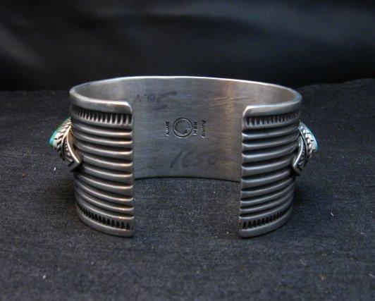 Image 5 of Superb Albert Jake Navajo Sonoran Gold Turquoise Silver Cuff Bracelet