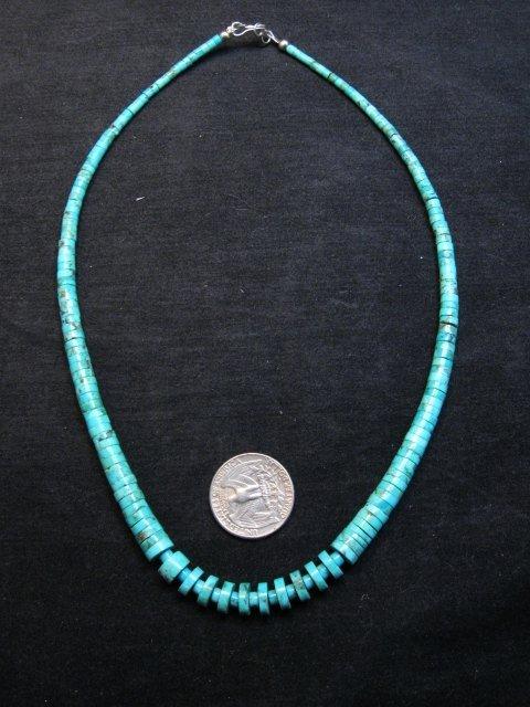 Image 0 of Lupe Lovato Santo Domingo Kewa Turquoise Necklace 19