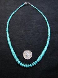 Lupe Lovato Santo Domingo Kewa Turquoise Necklace 19 long