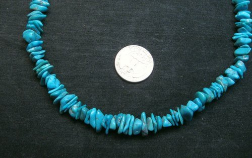 Image 2 of Turquoise Nugget Necklace, Louise Joe, Navajo 18-inches