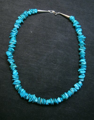 Image 3 of Turquoise Nugget Necklace, Louise Joe, Navajo 18-inches