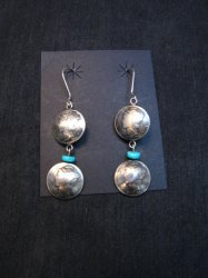 James Mccabe Navajo Old Coin Mercury Dime Earrings