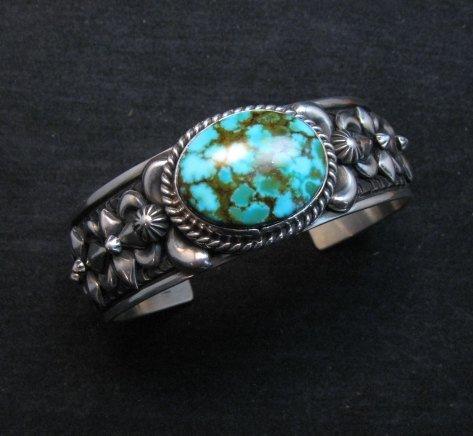Image 0 of Darryl Becenti Navajo Kingman Turquoise Silver Bracelet