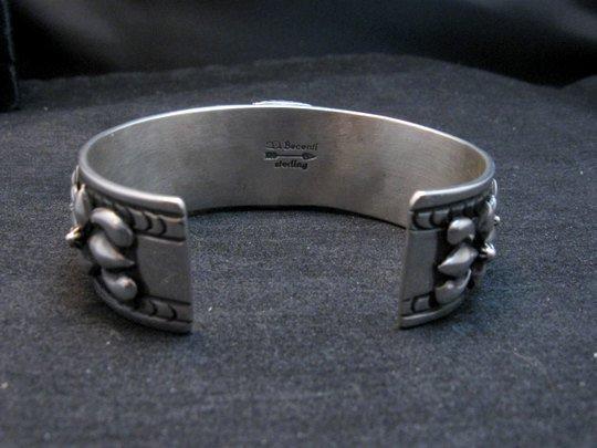 Image 4 of Darryl Becenti Navajo Kingman Turquoise Silver Bracelet