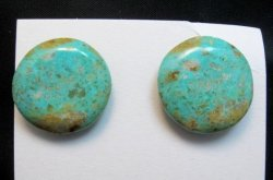 Santo Domingo Kewa Turquoise Disk Bracelet, Joanne Garcia