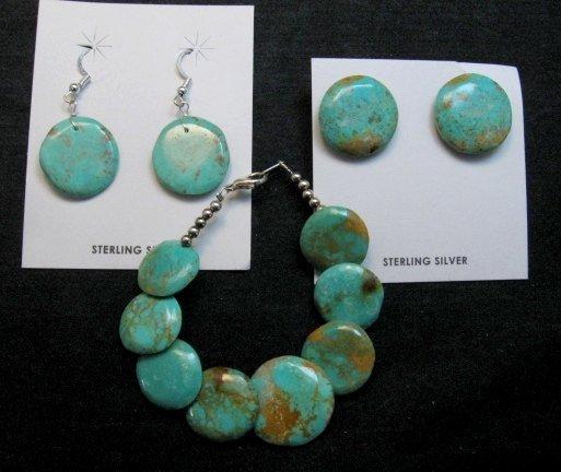 Image 3 of Santo Domingo Kewa Turquoise Disk Bracelet, Joanne Garcia