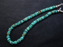 Billy Archuleta - 21 Kingman Turquoise Bead Necklace