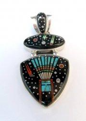 Navajo Matthew Jack Micro Inlay Yei Bei Chai Night Sky Pendant