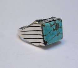 Navajo Native American Number 8 Turquoise Ring Sz11 Ray Jack