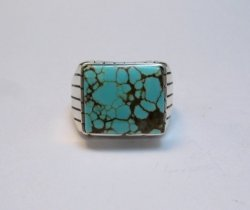 Navajo Native American Number 8 Turquoise Ring Sz10 Ray Jack