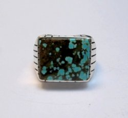 Ray Jack Navajo Number 8 Turquoise Ring sz10-1/2