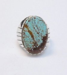 Ray Jack Navajo Native American Number 8 Turquoise Ring Sz12
