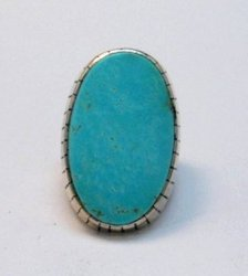 Huge Navajo Native American Turquoise Silver Ring, Ray Jack, Sz9-1/2
