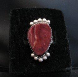 Selena Warner Navajo Purple Spiny Oyster Silver Ring sz7