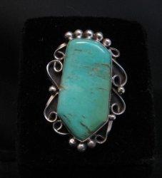 Navajo Kingman Turquoise Silver Ring Lucille Calladitto sz7-1/2