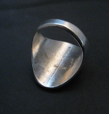 Image 3 of Bigger Native American Navajo Sterling Silver Coyote Ring sz10-1/2