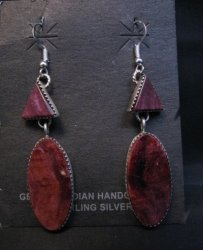 Navajo American Indian Purple Spiny Oyster Earrings, Selena Warner