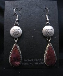 Navajo Purple Spiny Oyster Sterling Silver Earrings, Selena Warner