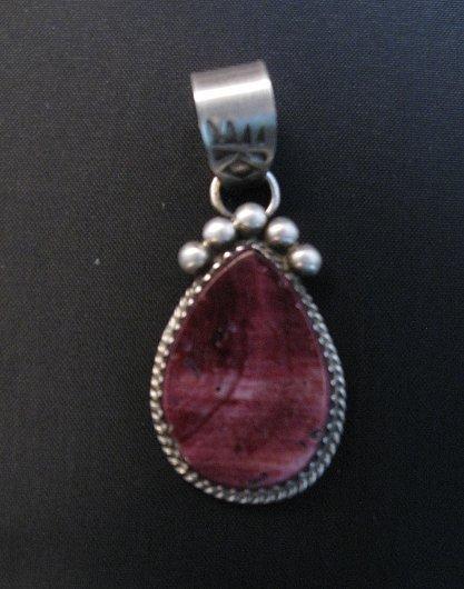Image 0 of Navajo Purple Spiny Oyster Sterling Silver Pendant, Selena Warner