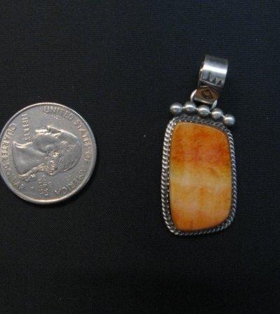 Image 2 of Selena Warner Navajo Native American Orange Spiny Oyster Pendant
