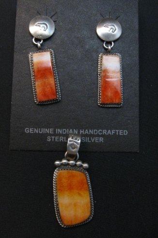 Image 3 of Selena Warner Navajo Native American Orange Spiny Oyster Pendant