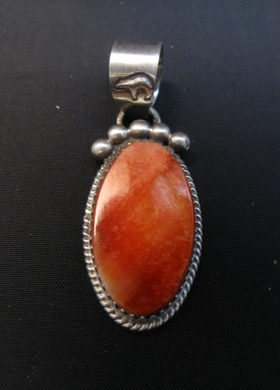 Image 0 of Selena Warner Navajo Native American Spiny Oyster Pendant