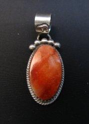 Selena Warner Navajo Native American Spiny Oyster Pendant