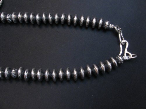 Image 7 of Navajo Native American 7pc Turquoise Silver Bead Necklace, Everett Mary Teller