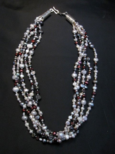 Image 0 of Everett Mary Teller Navajo Freshwater and Saltwater Pearl Necklace