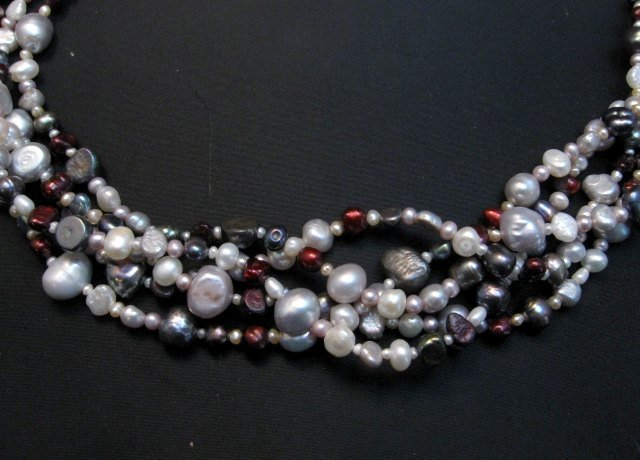 Image 2 of Everett Mary Teller Navajo Freshwater and Saltwater Pearl Necklace