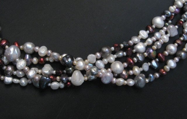 Image 4 of Everett Mary Teller Navajo Freshwater and Saltwater Pearl Necklace