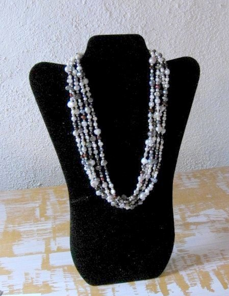 Image 1 of Everett Mary Teller Navajo Freshwater and Saltwater Pearl Necklace