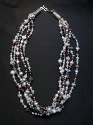 Everett Mary Teller Navajo Freshwater and Saltwater Pearl Necklace