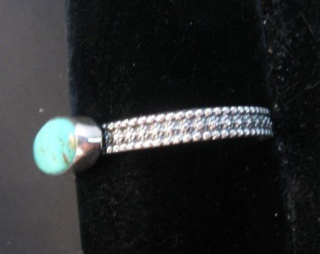 Image 3 of Navajo Turquoise Stacker Cuff Bracelet, Everett and Mary Teller