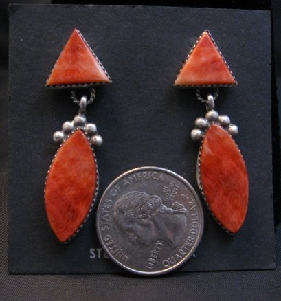 Image 1 of Navajo American 2-Pc Spiny Oyster Earrings, Selena Warner