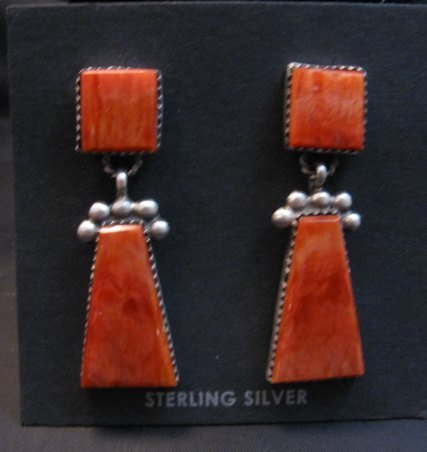 Image 0 of Navajo Native American 2-Pc Spiny Oyster Earrings, Selena Warner