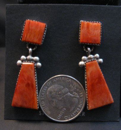 Image 1 of Navajo Native American 2-Pc Spiny Oyster Earrings, Selena Warner