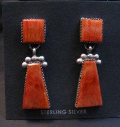 Navajo Native American 2-Pc Spiny Oyster Earrings, Selena Warner