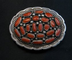 Old Dead Pawn Native American Coral Buckle