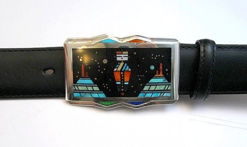 Image 2 of Jim Harrison * Navajo * Inlaid Mother Earth Night Sky Buckle with Belt