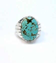 Ray Jack Navajo Native American Number 8 Turquoise Ring Sz13
