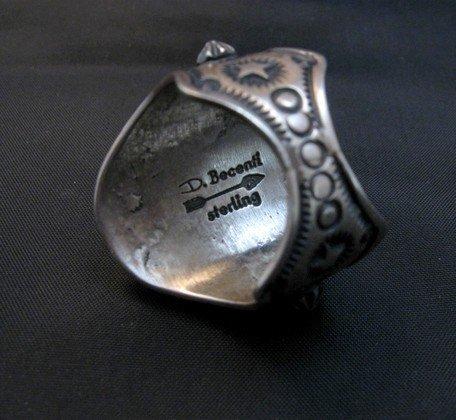 Image 3 of Fancy Darryl Becenti Navajo Black Onyx Sterling Silver Ring sz10