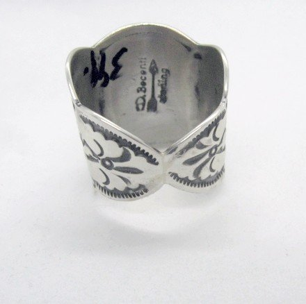 Image 4 of Navajo Darryl Becenti Sonoran Gold Turquoise Silver Ring sz10-3/4