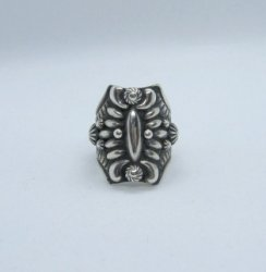 Darryl Becenti Navajo Sterling Silver Repousse Ring sz9-1/2