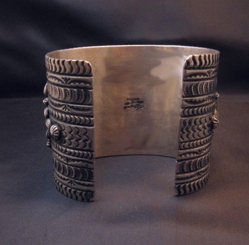 Image 5 of A++ Darryl Becenti Navajo Royston Turquoise Silver Cuff Bracelet